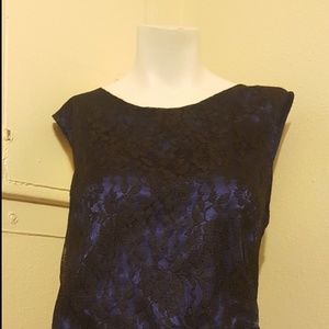 Jones wear 16 sleeveless blouse top dark blue and